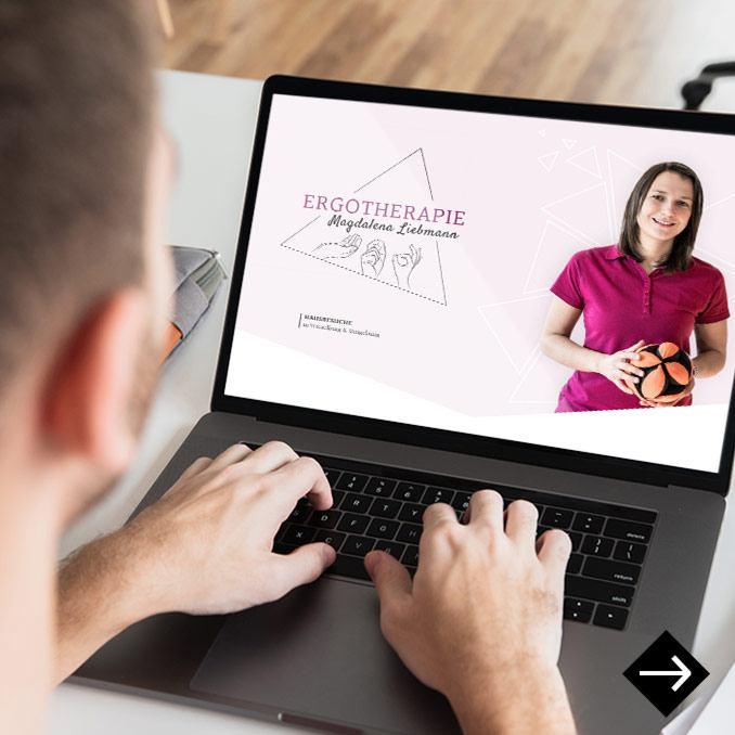 Webdesign Ergotherapie Liebmann Wieselburg