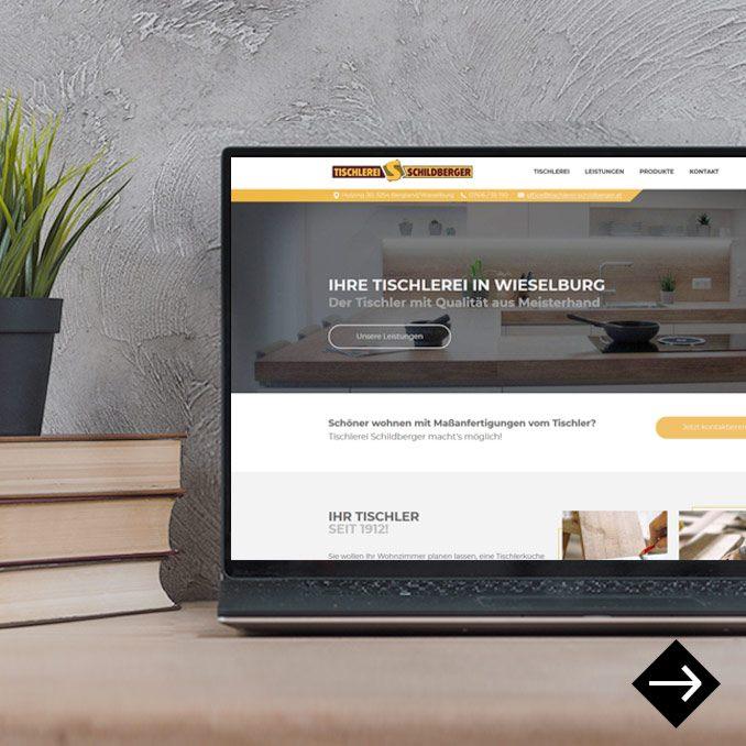 Webdesign Tischlerei Schildberger Wieselburg