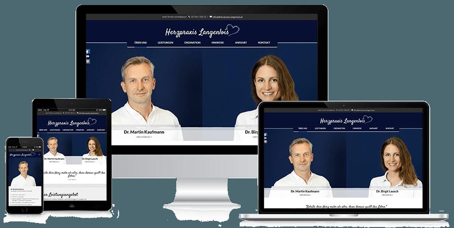 Website Herzpraxis Langenlois